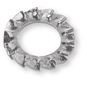 Serrated lock washers and toothed lock washers